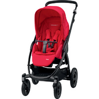 Poussette 4 roues stella origami red