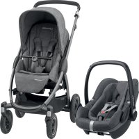 Poussette combiné duo stella pebble plus sparkling grey