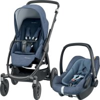 Poussette combiné duo stella pebble plus nomad blue