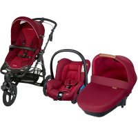 Pack poussette trio high trek citi amber robin red