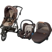 Pack poussette trio high trek citi amber earth brown