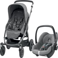 Pack poussette duo stella pebble sparkling grey