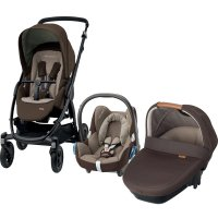 Pack poussette trio stella cabriofix amber earth brown