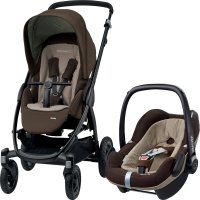 Poussette combiné duo stella pebble plus earth brown