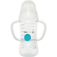 Biberon sans bpa maternity easy clip blanc avec poignées 270ml