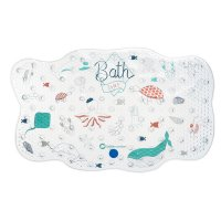 Tapis de bain water world bleu