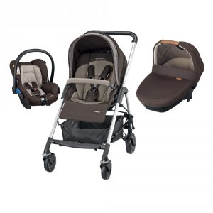 Poussette combiné trio streety amber earth brown