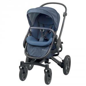 Poussette 4 roues nova nomad blue