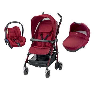 Pack poussette trio dana robin red Bebe confort