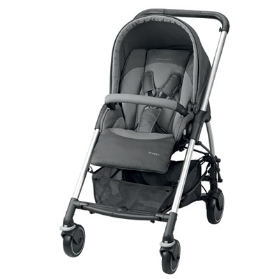 Pack poussette trio streety amber concrete grey Bebe confort