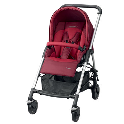 Pack poussette trio streety amber robin red Bebe confort