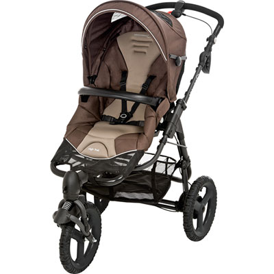 Pack poussette duo high trek citi earth brown Bebe confort
