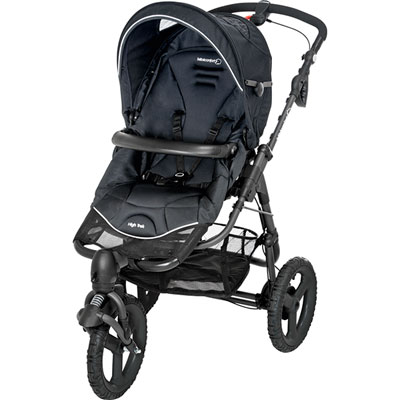 Bebe confort Poussette 3 roues high trek total black 2014