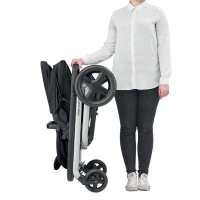 Poussette 4 roues lila nomad black Bebe confort