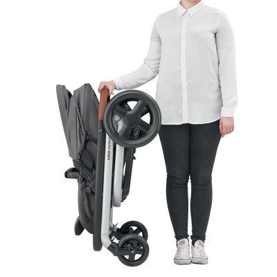 Poussette 4 roues lila nomad grey Bebe confort