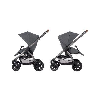 Poussette 4 roues stella sparkling grey Bebe confort