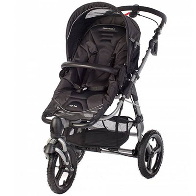 Poussette 3 roues high trek black/grey Bebe confort