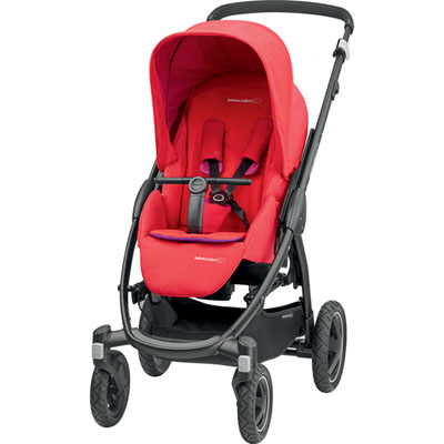 Poussette 4 roues stella red orchid Bebe confort