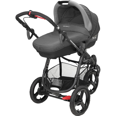 Pack poussette trio high trek cabriofix compacte concrete grey 2016 Bebe confort