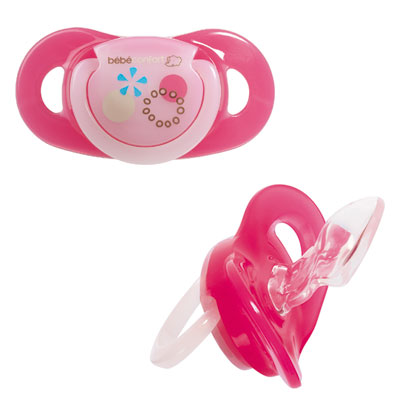 Bebe confort Lot de 2 sucettes silicone maternity dental safe 0/12 mois fille