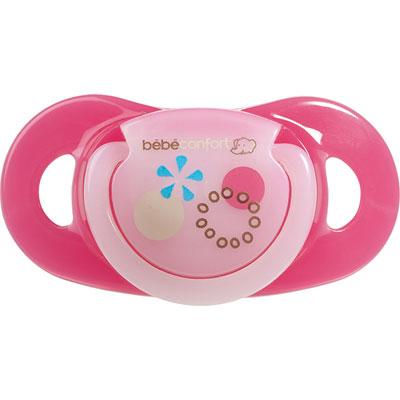 Bebe confort Lot de 2 sucettes caoutchouc maternity dental safe 18/36 mois fille