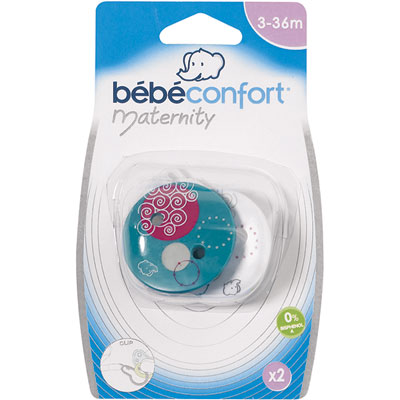 Attache-sucette rond x 2 Bebe confort