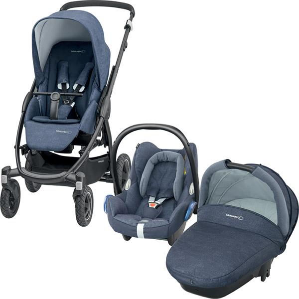 pack poussette trio stella cabriofix compacte nomad blue. Black Bedroom Furniture Sets. Home Design Ideas