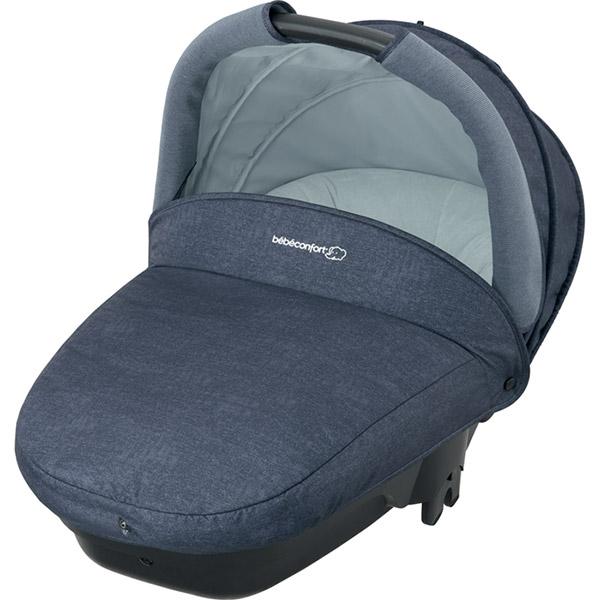 Poussette combiné trio stella cabriofix compacte nomad blue Bebe confort