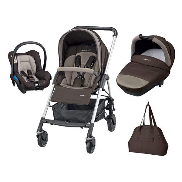 Poussette combiné trio streety next earth brown 2016 Bebe confort
