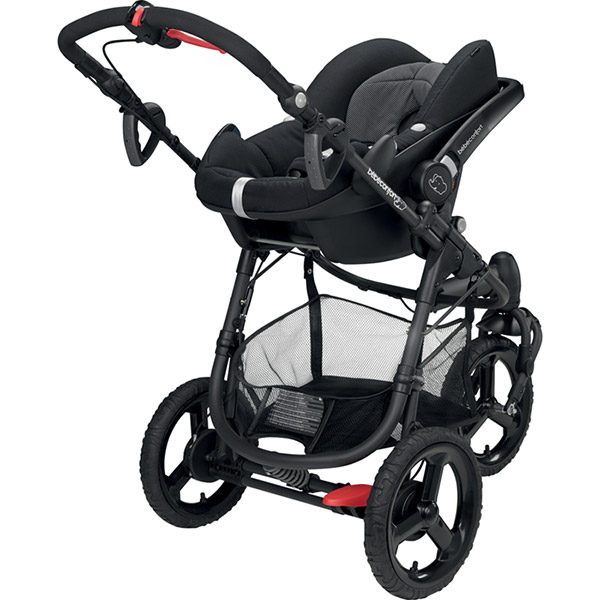 Pack poussette trio high trek pebble plus compacte black raven Bebe confort
