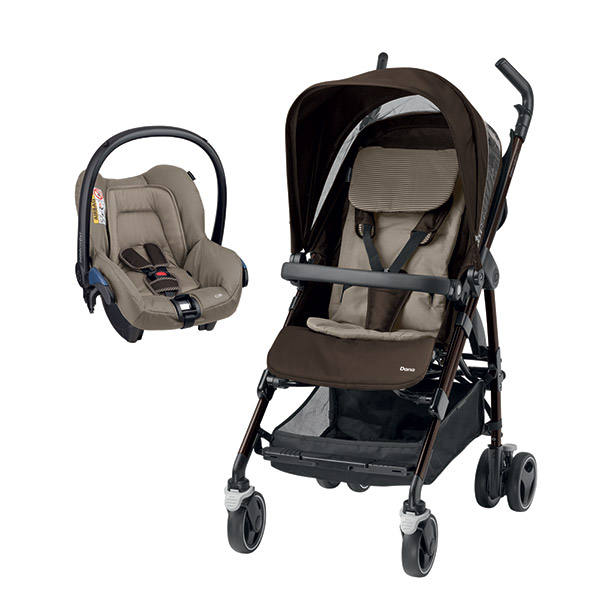 Poussette combiné duo dana earth brown Bebe confort