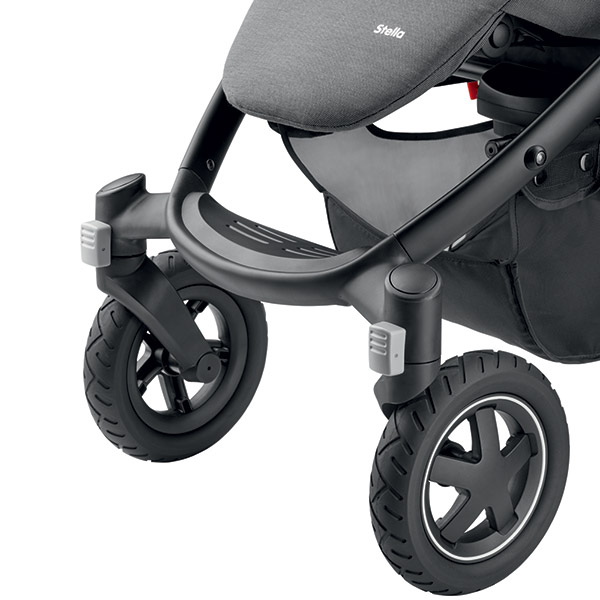 Poussette 4 roues stella concrete grey Bebe confort