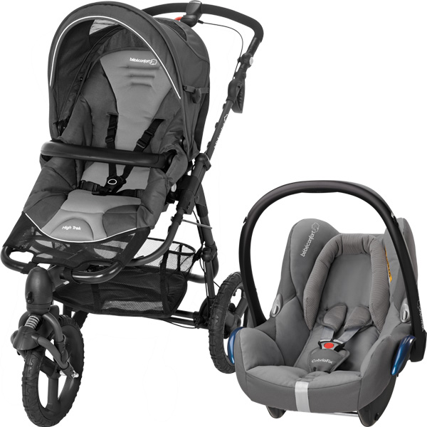 Poussette combiné duo high trek cabriofix concrete grey 2015 Bebe confort