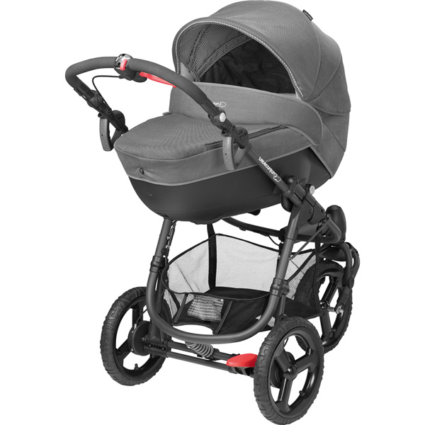 Poussette combiné trio high trek cabriofix windoo concrete grey 2015 Bebe confort