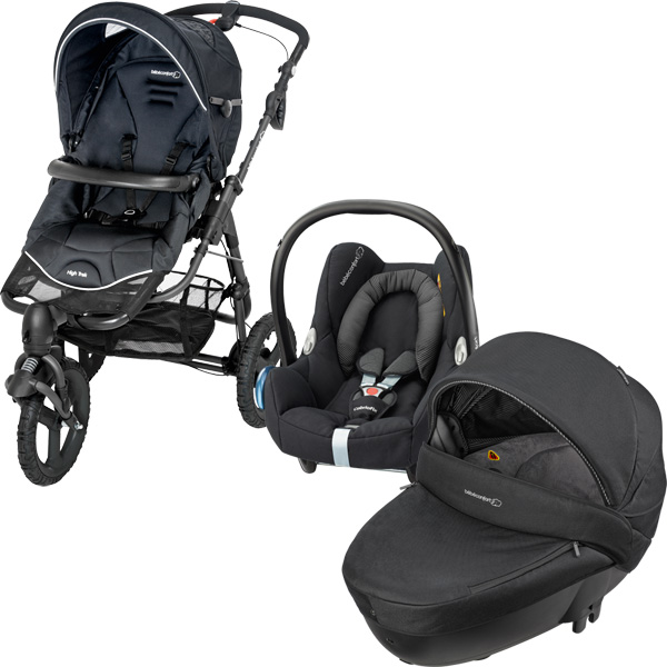 pack poussette trio high trek cabriofix windoo black raven 2016 de bebe confort en vente chez cdm. Black Bedroom Furniture Sets. Home Design Ideas