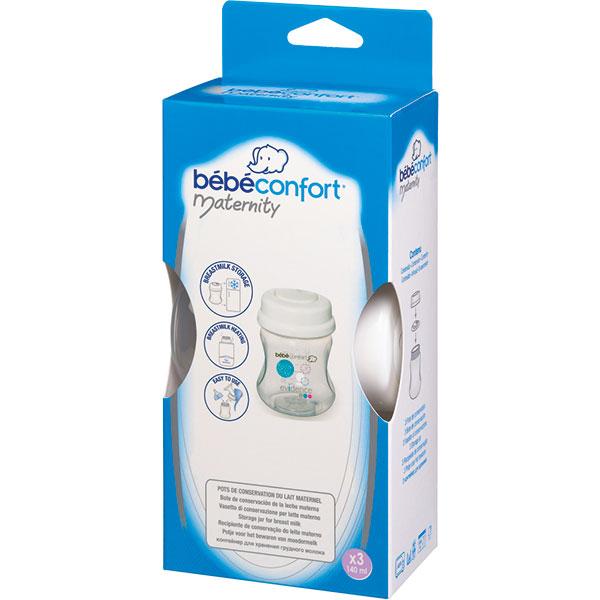 Lot de 3 pots de conservation du lait Bebe confort