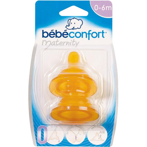 Lot de 2 tétines caoutchouc base large maternity t3 bouillie Bebe confort