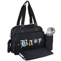 Sac à langer simply premium rock spirit noir/texte old english