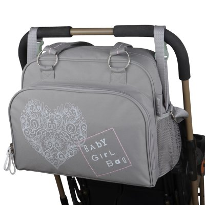 Sac à langer simply love romance tourterelle/ rose poudré Baby on board