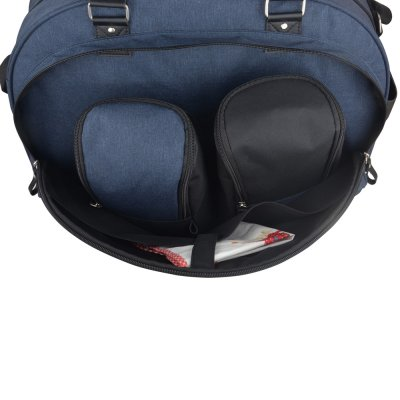 Sac à langer week end team moonlight bleu denim/noir Baby on board