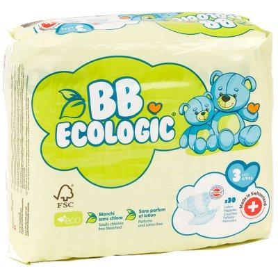 Couches bébé midi taille 3, 4-9 kg (30 couches) Bb ecologic