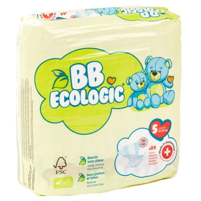 Couches bébé junior taille 5, 12-25 kg (24 couches) Bb ecologic