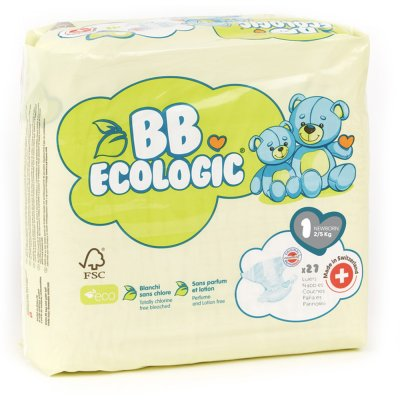 Couches bébé new born taille 1, 2-5 kg (27 couches) Bb ecologic