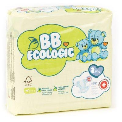 Couches bébé mini taille 2, 3-6 kg (32 couches) Bb ecologic