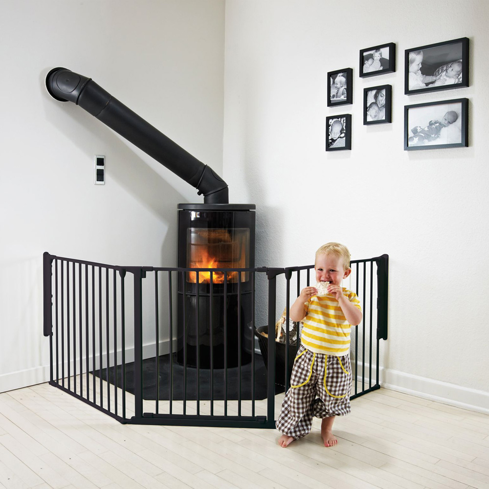 barri re de s curit pare feu flex l noir de baby dan en. Black Bedroom Furniture Sets. Home Design Ideas