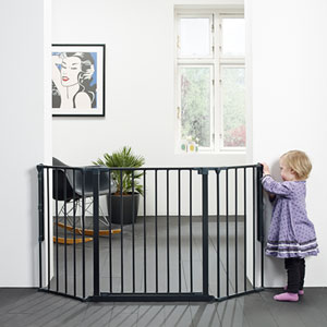 Barrière sécurité bébé pare-feu flex m noir