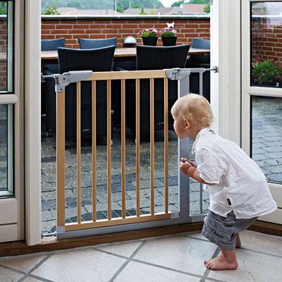 Barrière de sécurité designer indicator naturel/argent 69-75.5 cm Baby dan