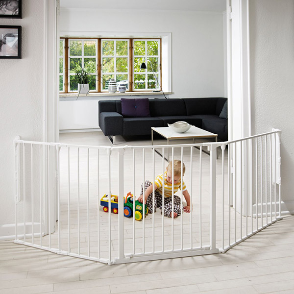 Barrière de sécurité pare-feu flex l blanc Baby dan