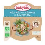 Mon p'tit plat méli mélo de légumes au saumon riz pas cher