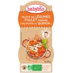 Bio menu du jour mitonné de légumes au poulet fermier et quinoa pas cher